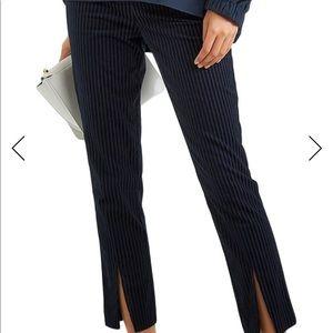 FRAME. Cropped pin stripe pants